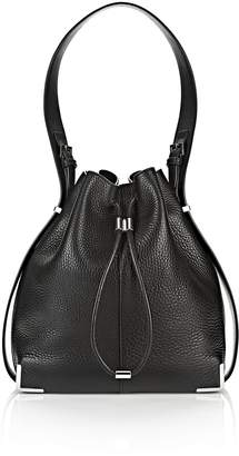 Alexander Wang Prisma Drawstring Hobo In Black With Rhodium