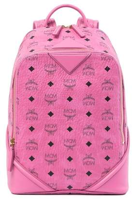 MCM Mini Pink Leather Backpack