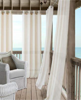 """Elrene Bali Sheer 52"""" x 95"""" Indoor/Outdoor Curtain Panel with Tieback"""