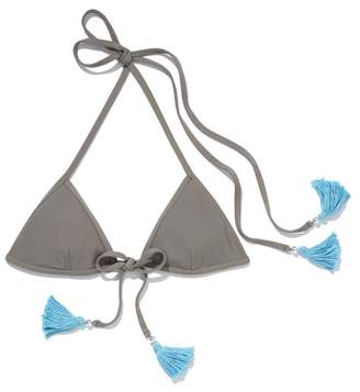La Maree Style No. 2 | Gris Center Tie Bikini Top