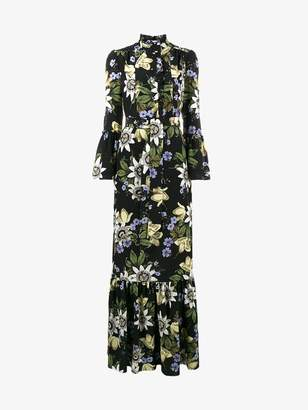 Erdem Stephanie floral print ruffle dress