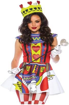 Leg Avenue Womens Card Queen of Hearts Halloween Costume