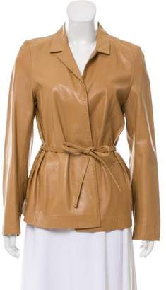 KORS Leather Short Coat