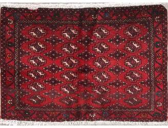 "Darby Home Co Elledge Geometric Red Persian Oriental Hand-Knotted Wool Rug 2'0""X3'3"" Darby Home Co"