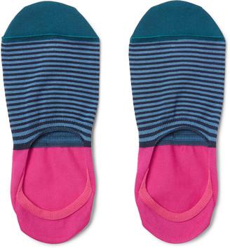 Paul Smith Striped Mercerised Cotton-Blend No-Show Socks $20 thestylecure.com
