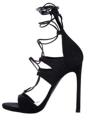 Stuart Weitzman Embellished High Heel Sandals