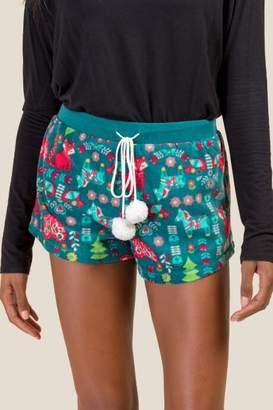 francesca's Nordic Holiday PJ Short - Pine