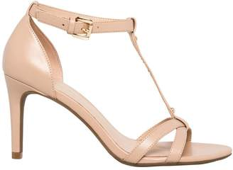 Le Château Women's Faux Leather T-Strap Sandal