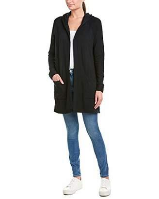Stateside Women's Viscose Fleece Hooded Cardigan