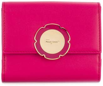 Salvatore Ferragamo flower plaque mini cardholder