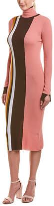 Pinko Turtleneck Wool Sweaterdress