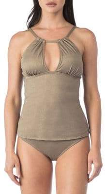 Kenneth Cole Reaction High-Neck Tankini Top