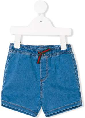 Gucci Kids tie waist denim shorts