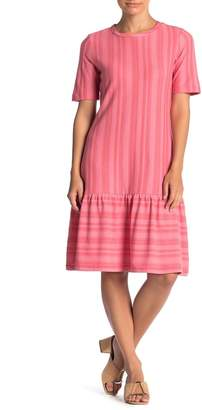 Ella Moss Camilla Striped Short Sleeve Flounce Dress