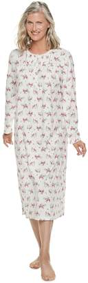 Croft & Barrow Women's Printed Crewneck Nightgown
