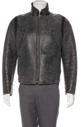 26660f6d2594 Calvin Klein Collection Leather Shearling Jacket