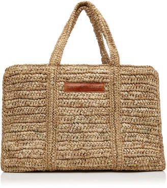 Rae Feather M'O Exclusive Straw Shoulder Bag