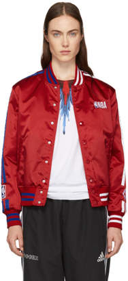 Marcelo Burlon County of Milan Red NBA Edition Bomber Jacket
