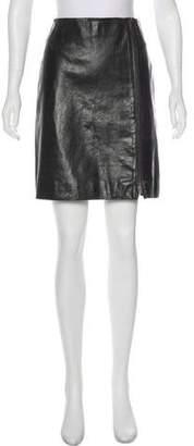 Celine Leather Knee-Length Skirt