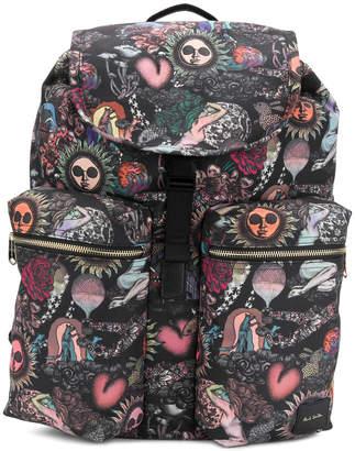 Paul Smith patterned multi-pocket backpack