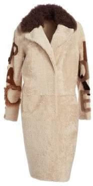Julia & Stella Shearling Lamb& Curly Lamb Fur Coat