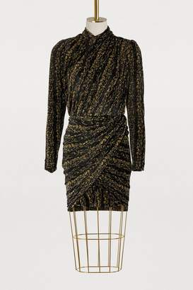 Balenciaga Golden draped dress