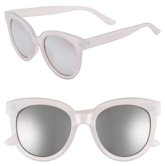 BP 53mm Frosted Cat Eye Sunglasses