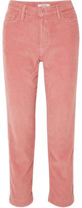 GRLFRND Helena Cotton-blend Corduroy Straight-leg Pants - Pink