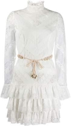 Zimmermann lace panel tiered dress