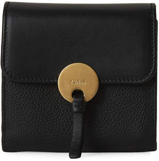 Chloé Black Small Leather Flap Wallet