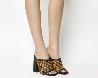 Office Assumed Square Toe Mules