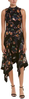Nicole Miller Silk-Blend A-Line Dress