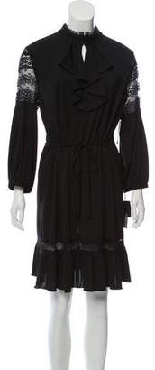Anna Sui Lace-Trimmed Long Sleeve Dress