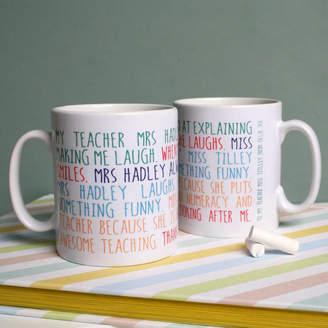 Modo creative Personalised My Teacher Mug