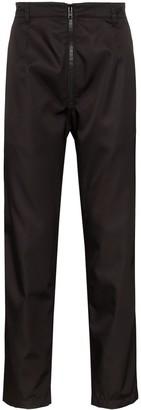 Prada zip-front straight-leg trousers