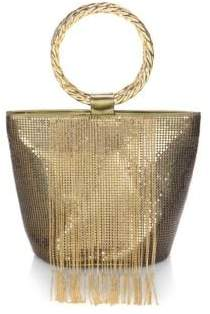 Whiting & Davis Bracelet Fringe Bucket Bag