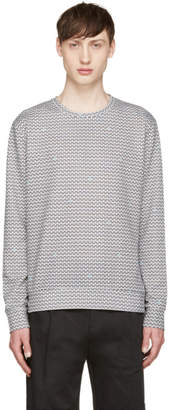 Giuliano Fujiwara White and Black Fan Pullover