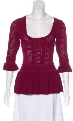 Torn By Ronny Kobo Peplum Knit Sweater