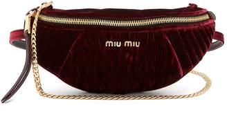 Miu Miu Quilted-velvet belt bag