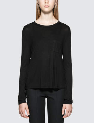 Alexander Wang Classic Cropped L/S T-Shirt With Chest Pocket