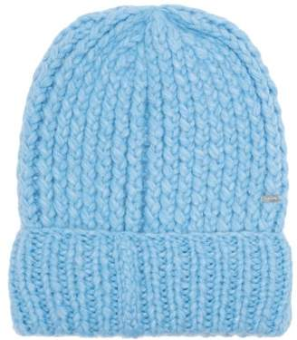 Missoni Ribbed Knit Alpaca Blend Beanie Hat - Womens - Blue