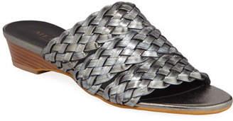 Sesto Meucci Gale Woven Metallic Demi-Wedge Sandals