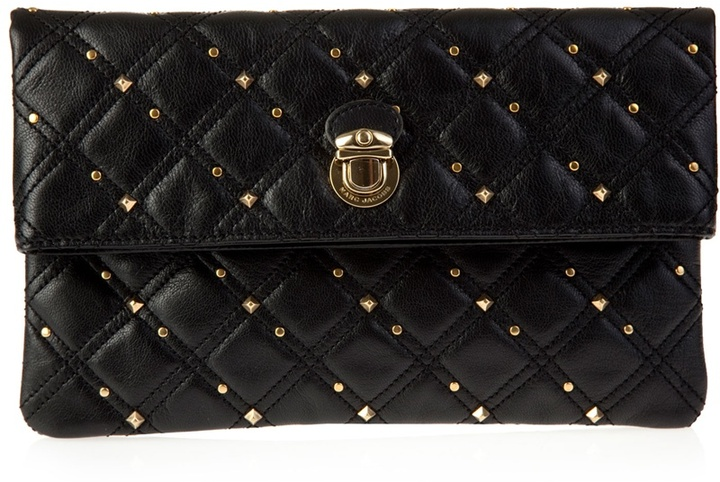 MARC JACOBS - Quilted leather 'Eugenie' clutch bag