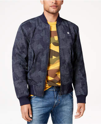 G Star Men's Rackam Pixelated Camouflage-Print Bomber Jacket, Created for Macy's