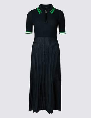 Marks and Spencer Textured Collared Neck Jumper Dress