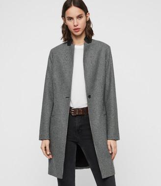 AllSaints Leni Puppytooth Coat