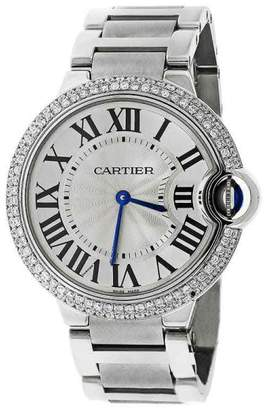 Cartier Ballon Bleu de W69011Z4 Stainless Steel 37mm Unisex Watch $7,150 thestylecure.com
