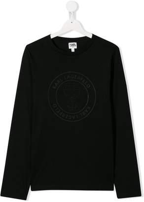 Karl Lagerfeld Paris tonal logo T-shirt
