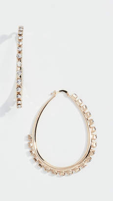 Anton Heunis Crystal Hoop Earrings