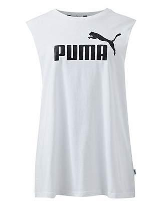 Puma Ladies White Essential Cut Off Tank